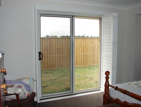 bi fold shutters for sliding glass external doorway - DSC05437