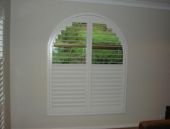 custom made arch shape window shutters - 050413 006