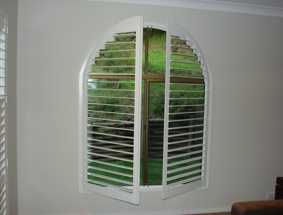 custom made arch shape window shutters - 050413 008