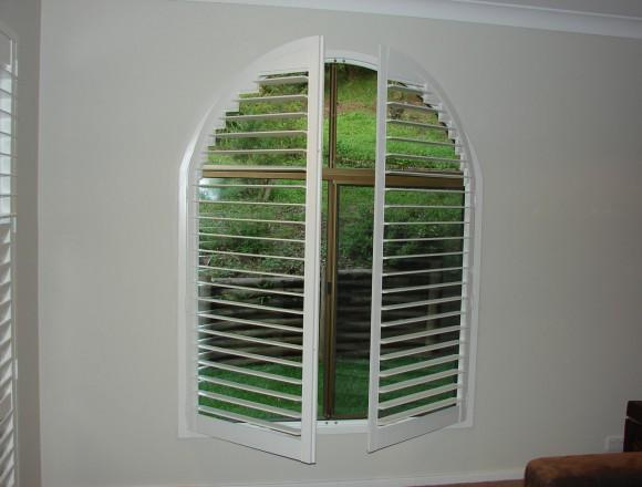 custom made arch shape window shutters - 050413 008