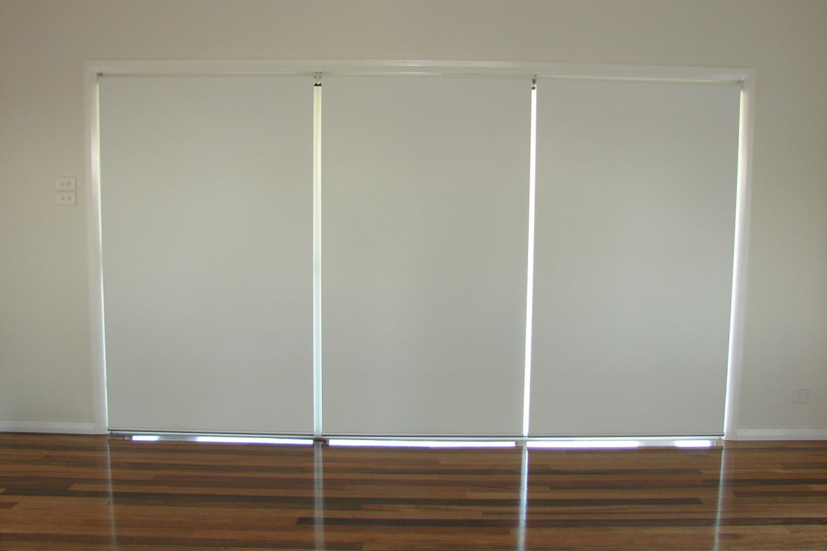 triple roller blinds for glass sliding doors - 05